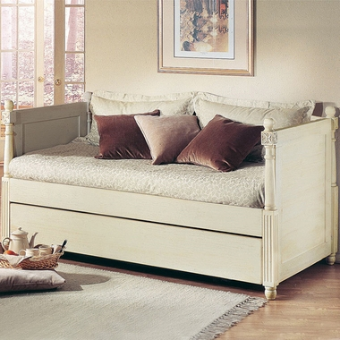 Distressed White French Daybed by Alligator - Click to enlarge