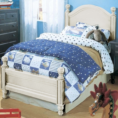 Monterey Twin Bed Distressed White I1008 T Dw By Alligator