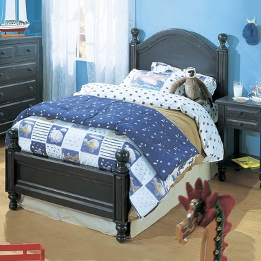 Denim Blue Monterey 3 Piece Bedroom Set - Twin Bed, Nightstand and 5 Drawer Dresser     by Alligator