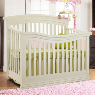 French White Verona 4 in 1 Convertible Crib by Sorelle