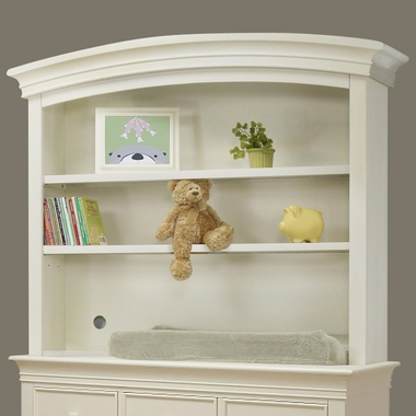 French White Verona Double Dresser Hutch by Sorelle