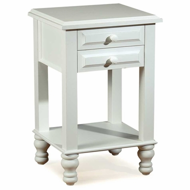 Distressed White Monterey Nightstand by Alligator - Click to enlarge