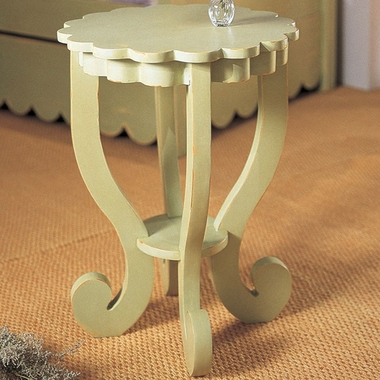 Sage Green Scallop End Table by Alligator - Click to enlarge
