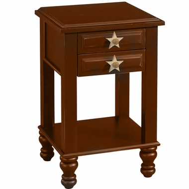 Walnut Stars Nightstand by Alligator - Click to enlarge