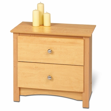 Maple Sonoma 2 Drawer Nightstand by PrePac