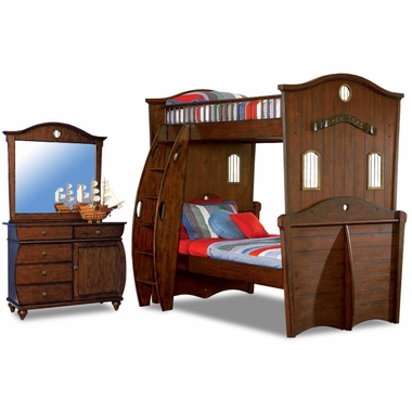 antique honey brown oak shiver me timbers 3 piece bedroom set twin