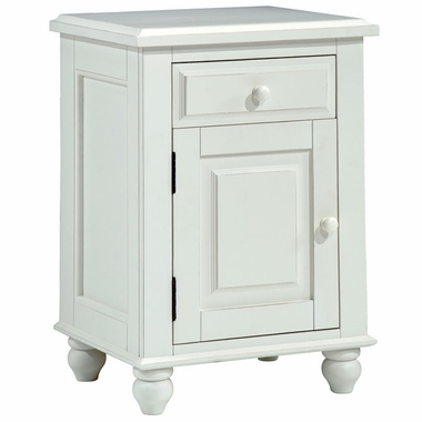 Distressed White Monterey Single Door Nightstand by Alligator - Click to enlarge