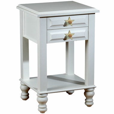 Distressed White Stars Nightstand by Alligator - Click to enlarge