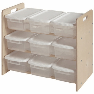 Unfinished Nine Bin Toy Organizer by Little Colorado