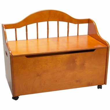 Deacon's Bench / Toy Chest on Casters by Kids Korner - Click to enlarge