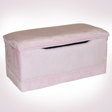 Pink Dot Deluxe Toy Box by Magical Harmony Kids - Click to enlarge
