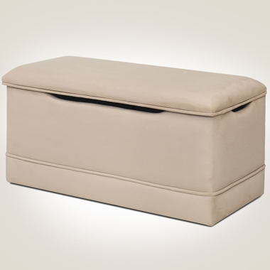 Beige Microfiber Deluxe Toy Box by Magical Harmony Kids - Click to enlarge
