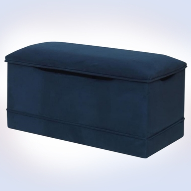 Blue Microfiber Deluxe Toy Box by Magical Harmony Kids - Click to enlarge