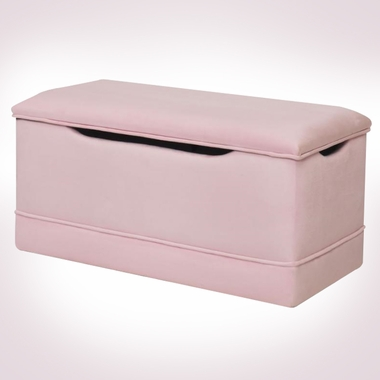 Pink Microfiber Deluxe Toy Box by Magical Harmony Kids - Click to enlarge