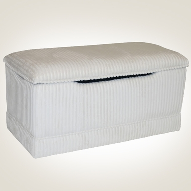 Ivory Chenille Deluxe Toy Box by Magical Harmony Kids - Click to enlarge