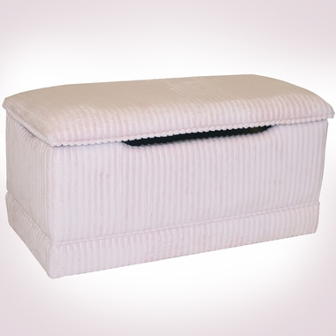 Pink Chenille Deluxe Toy Box by Magical Harmony Kids - Click to enlarge
