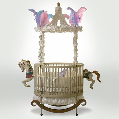 Carousel Rocking Horse Round Crib by Little Miss Liberty