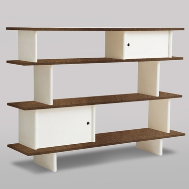 Walnut Classic Mini-Library by Oeuf - Click to enlarge