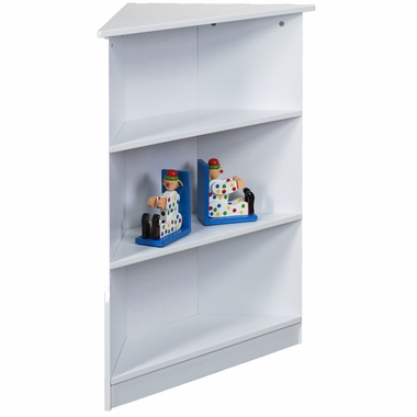 White Corner Bookshelf by Kids Korner