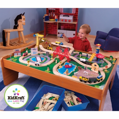 Ride Around Town Train Set w/Table by KidKraft