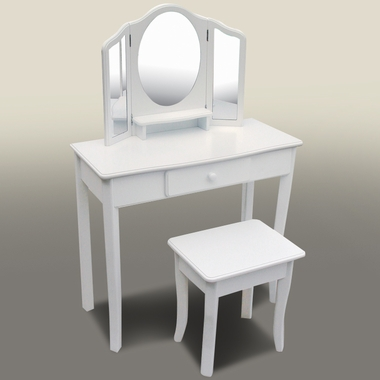 Classic Vanity And Stool White 85710 By Guidecraft Kids