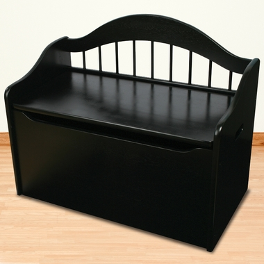 Black Wood Toy Box Chest by KidKraft - Click to enlarge