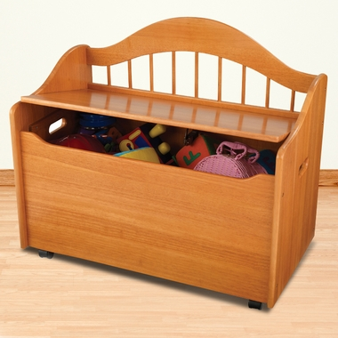 Honey Wood Toy Box Chest by KidKraft - Click to enlarge