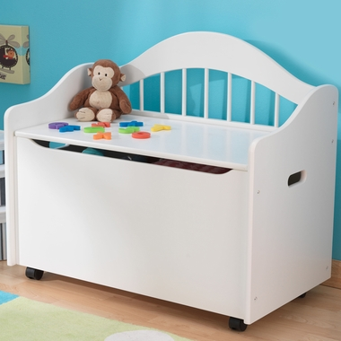 White Wood Toy Box Chest by KidKraft - Click to enlarge