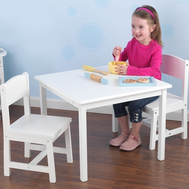 White Aspen Table and Chair Set by KidKraft - Click to enlarge