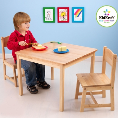 Natural Aspen Table and Chair Set by KidKraft - Click to enlarge