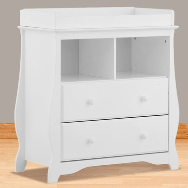 Carrara 2 Drawer Changing Table In White 03580 101 By Storkcraft Changing T