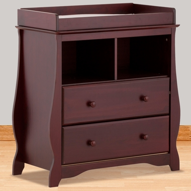 Carrara 2 Drawer Changing Table In Cherry 03580 104 By Storkcraft Changing