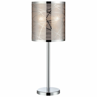 Lorenza Table Lamp in Chrome with Metal Shade by Lite Source