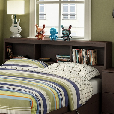Chocolate Karma Full Bookcase Headboard by SouthShore - Click to enlarge