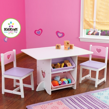 Heart Table and Chair Set by KidKraft