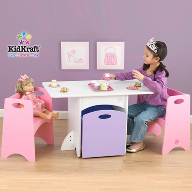 Pastel Kids Table with Benches by KidKraft