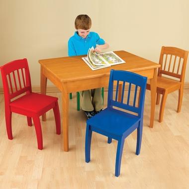 Honey Euro Honey Table and Four Chair Set by KidKraft