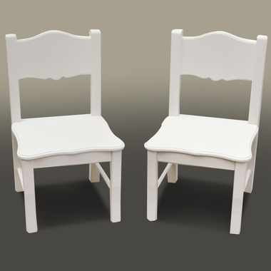 White Classic Set of 2 Chairs by GuideCraft