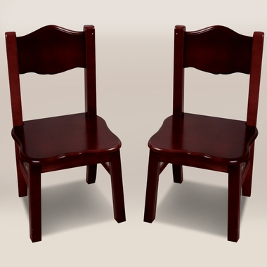 Espresso Classic Extra Chairs (Set of 2) by GuideCraft