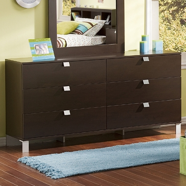 Chocolate Karma Double Dresser by SouthShore - Click to enlarge