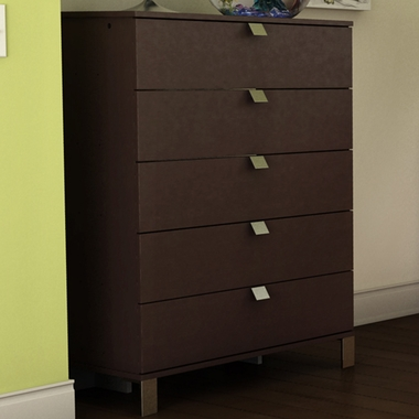 Chocolate Karma 5 Drawer Chest by SouthShore - Click to enlarge
