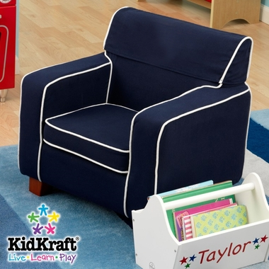 Navy Laguna Chair with Slip Cover by KidKraft - Click to enlarge