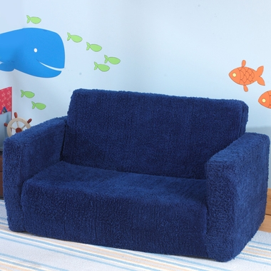 Blueberry Chenille Lil' Lounger Chair by KidKraft - Click to enlarge