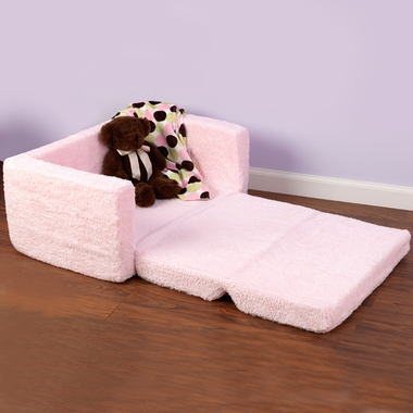 Pink Chenille Lil' Lounger Chair by KidKraft - Click to enlarge