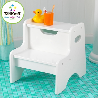 White Two Step Stool by KidKraft - Click to enlarge
