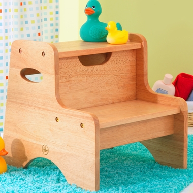 Natural Two Step Stool by KidKraft - Click to enlarge