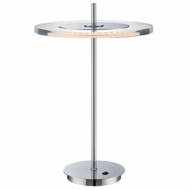 Lite Source Otoniel Led Table Lamp in Chrome with Clear Acrylic Shade with Leds