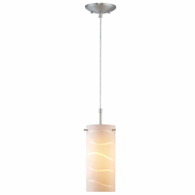 Pacifica Pendant Lamp in Polished Steel with White Glass Shade by Lite Source - Click to enlarge