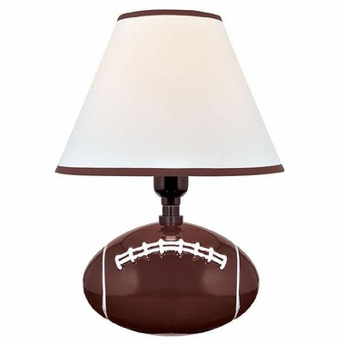 Pass Me Table Lamp in Football Ceramic Body with Fabric Shade by Lite Source