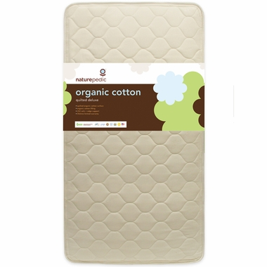 Quilted Organic Cotton Deluxe 252 Crib Mattress by Naturepedic